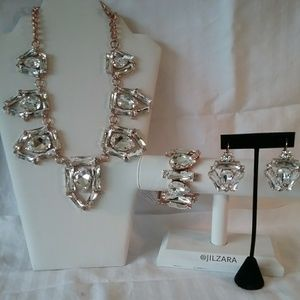 Swarovski Crystal statement set new with tag